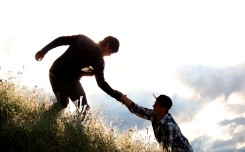 inspiring - helping hand - friends