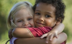 old souls - children hugging