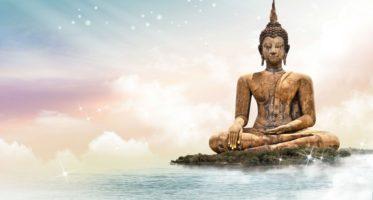 Meditation heals mind - buddha statue