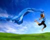 Happiness Woman jumping